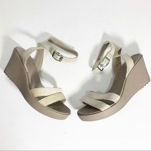Crocs Wedges in Cream